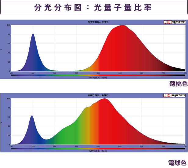日本医化器械製作所 高光量分光分布図